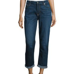 7 For All Mankind Kimmie Roll-Cuff Cropped Jeans